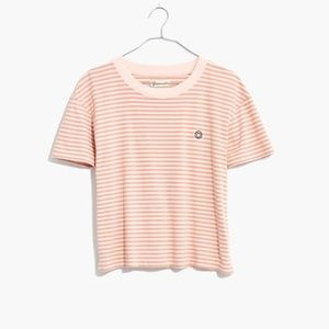 Madewell Smilely Face Embroidered T-Shirt